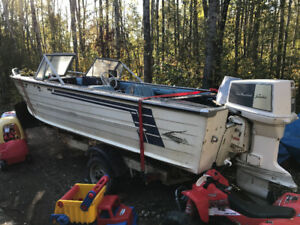 18' boat with 100hp Johnson outboard