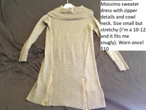 Mossimo sweater dress gray size small, worn once