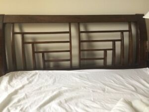 Queen solid oak headboard