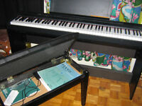 Digital Piano Yamaha P-105 with accessories