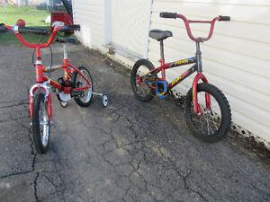 2 vélos enfants à vendre - possibilité d'échanger vélo