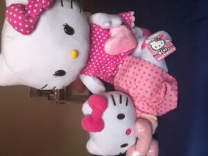 Hello kitty plush items new with tag