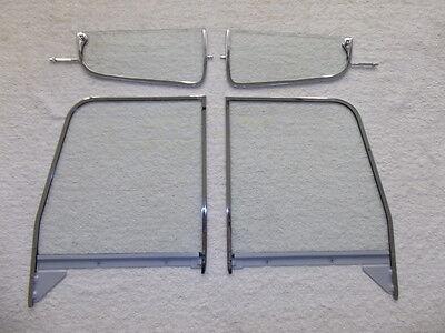 Chevy GMC Pickup Truck Glass Vent Door Assembled Clear 1955 1956 1957 1958 1959