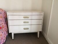 Vintage distressed small chest of drawers