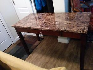 Beautiful Marble Look Computer Desk (DELIVERY AVAILABLE)
