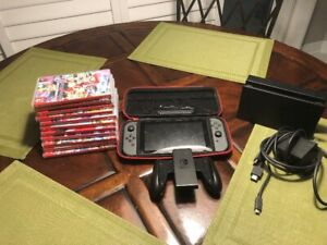 Nintendo switch MINT condition w/ 11 games!!!!