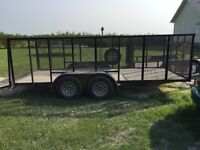 16' tandem axle trailer for sale