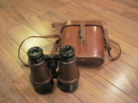 Antique WW1 Binoculars complete with case