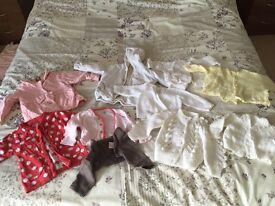 Baby girl 10x winter cardigans/coats 0-3 months