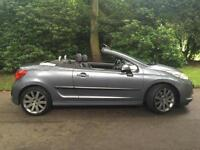 2008 Peugeot 207 CC 1.6HDi 110 GT SPORT HARD TOP CONVERTABLE, FULL LEATHER