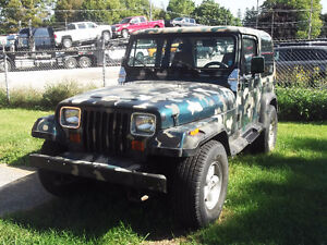 1990 JEEP WRANGLER YJ - LOW GEAR AXLES - CAMOUFLAGE PAINT