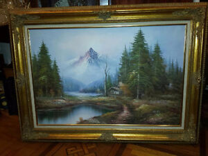 Large Oil Painting by Bradley - Blenheim
