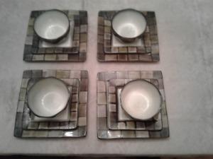 Set de vaisselle carré