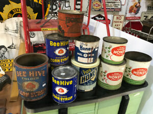 10 VINTAGE HONEY TINS CANS *PLEASE READ THE AD FOR PRICES!*