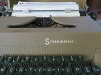 Pre 60s Vintage Portable Typewriter Speedwriter and case