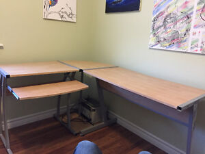 L Shaped Desk and Chair