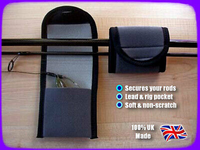 CARP ROD BAND WRAP WITH POUCH FOR RIGS & LEAD + HOOKLINK ** SOFT, FLEXIBLE **