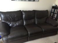 Leather sofa /couch/ suite 3 and 2