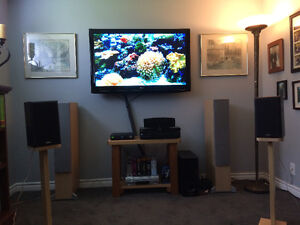 """47"""" LG-LCD TV, LG AMP and full surround sound speakers"""