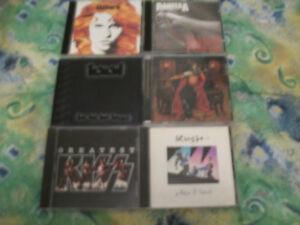 METAL,HARD ROCK 6 CD LOT FOR SALE,IRON MAIDEN,KISS,TOOL,PANTERA