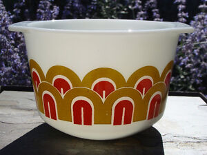 Vintage 343 Pyrex Gold Orange Arches Design Mixer Mixing Bowl London Ontario image 1