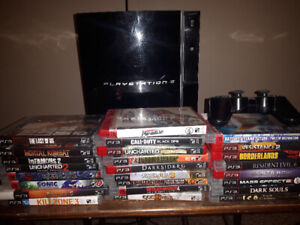 Playstation 3 with 25 games