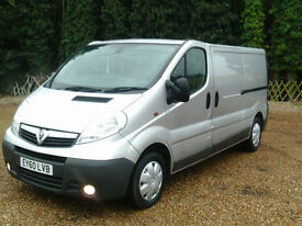 Vauxhall Vivaro 2.0 115 6SP LWB HIGH SPEC VAN FITTED 240V IDEAL DAY VAN CONVERT