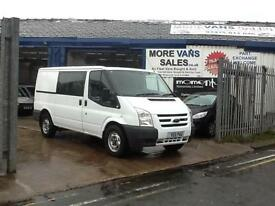 2011 1 owner ex council Ford Transit 2.2TDCi 115PS ) 330 MWB 6 seat Crew van