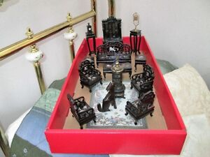Excellent quality doll house Chinese sitting room 1/12th size