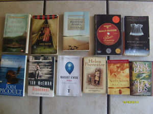 assorted Fiction paperback novels recommended for female readers