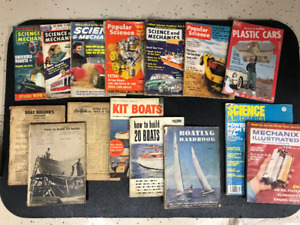 VINTAGE POPULAR\ SCIENCE \MECHANICS AND BOATING MAGAZINES