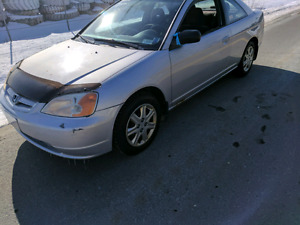 2003 honda civic coupe NEW MVI , WINTER TIRES