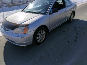 2003 honda civic coupe NEW MVI , WINTER TIRES