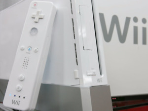 M0DD3D WHITE NINTENDO Wii SYSTEM WITH 7 GAMES