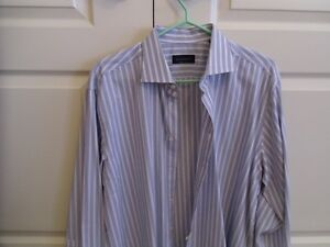 Canali dress shirt French cuff - Made in Italy 16 32/33