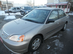 2002 Honda Civic Sedan  150 kms only 2995 certified
