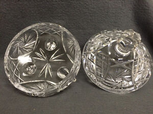 Collectible Antique Pinwheel Crystal Covered Candy Dish London Ontario image 5
