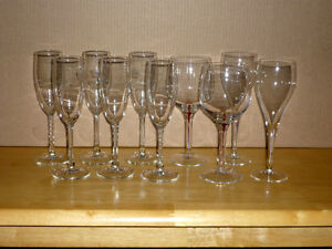 10 Glasses ... as shown .. assorted