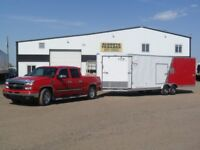 "New 2018 8.5x29' ""LOOK"" Element/Flat/Auto-Snow/5' V-Nose Trailer Red Deer Alberta Preview"