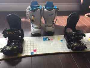DC snowboard with Burton boots and bindings London Ontario image 2
