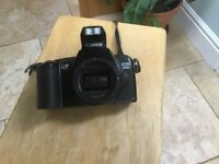 Canon 3000 EOS film camera body and case