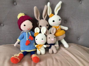 Hand made amigurumi crochet rabbit/bunny