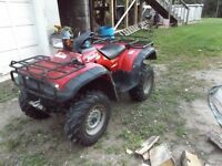 1996 Honda Foreman 4x4 with Plow