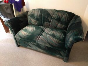 Love Seat and Chair set green with multicolour design