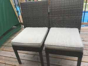 Two Patio chairs-extra wide for comfort