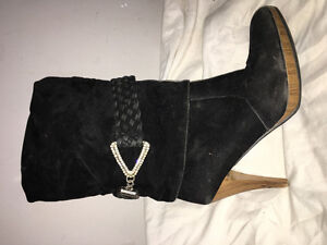 Sexy boots with rhinestone details