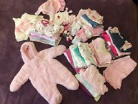 Newborn and 0-3 months baby girl bundle(50+items)