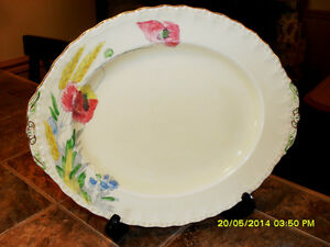 plateau de service antique Grindley floral serving platter#01088