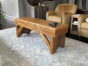 Rustic coffee table in golden oak colour
