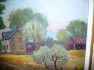 "Listed Artist, Inez Buchanan ""Farm At Actinolite, Ontario"" 1951 Stratford Kitchener Area image 5"